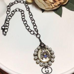 Stunning statement designer necklace.